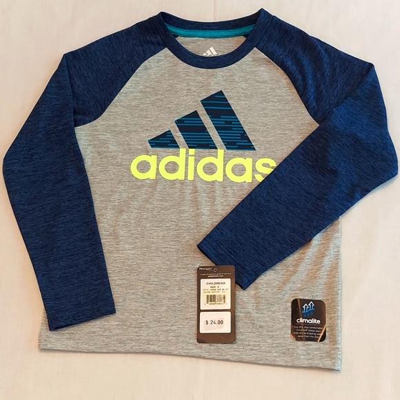 Boy's Adidas Climalite Long Raglan Sleeved Shirt